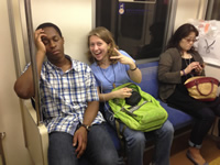 Subway Sleeping